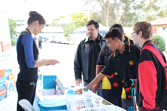 Providing resources at the National Youth Week event in Woodville.