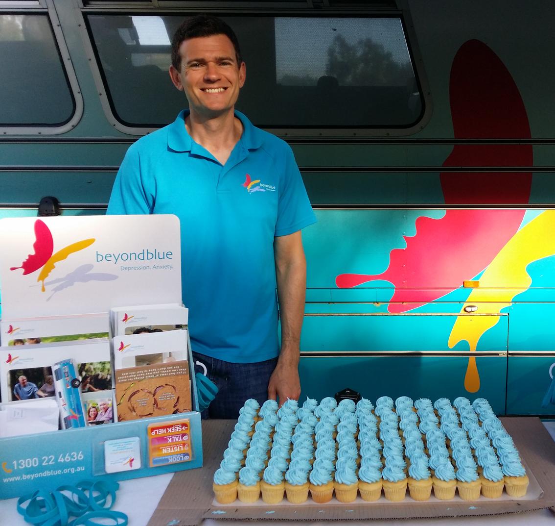 Blue cupcakes at Macquarie Park!