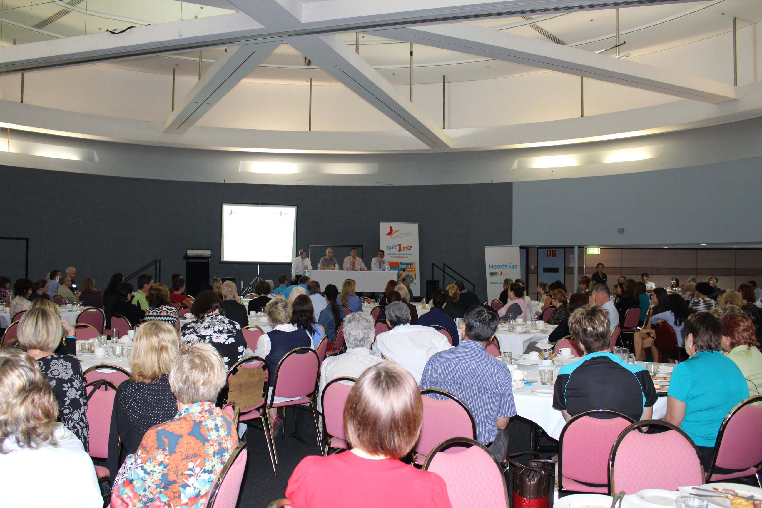 300 people turned up to hear about mentally healthy workplaces in Darwin.