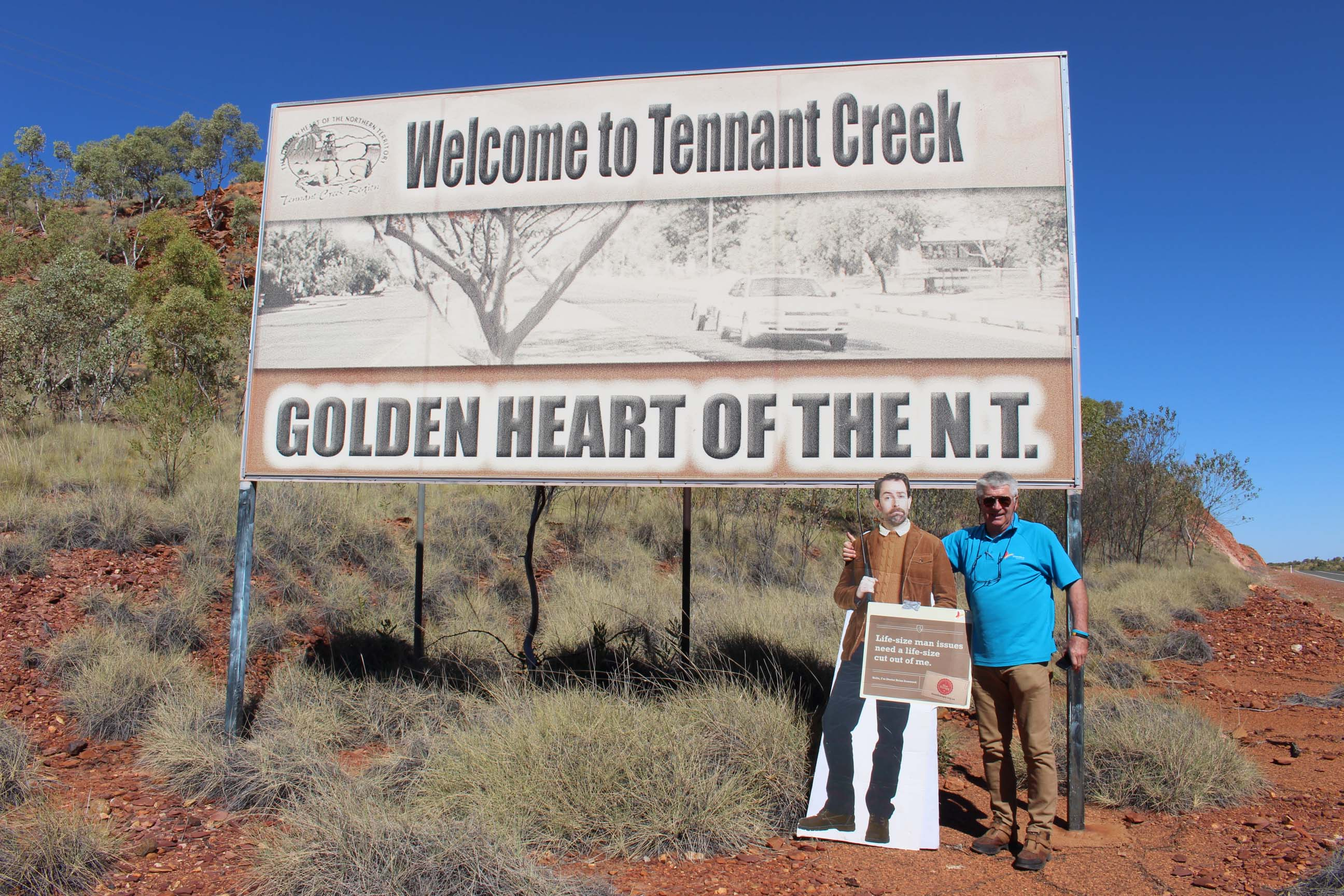Dr Brian Ironwood dropped in on the tour of NT.