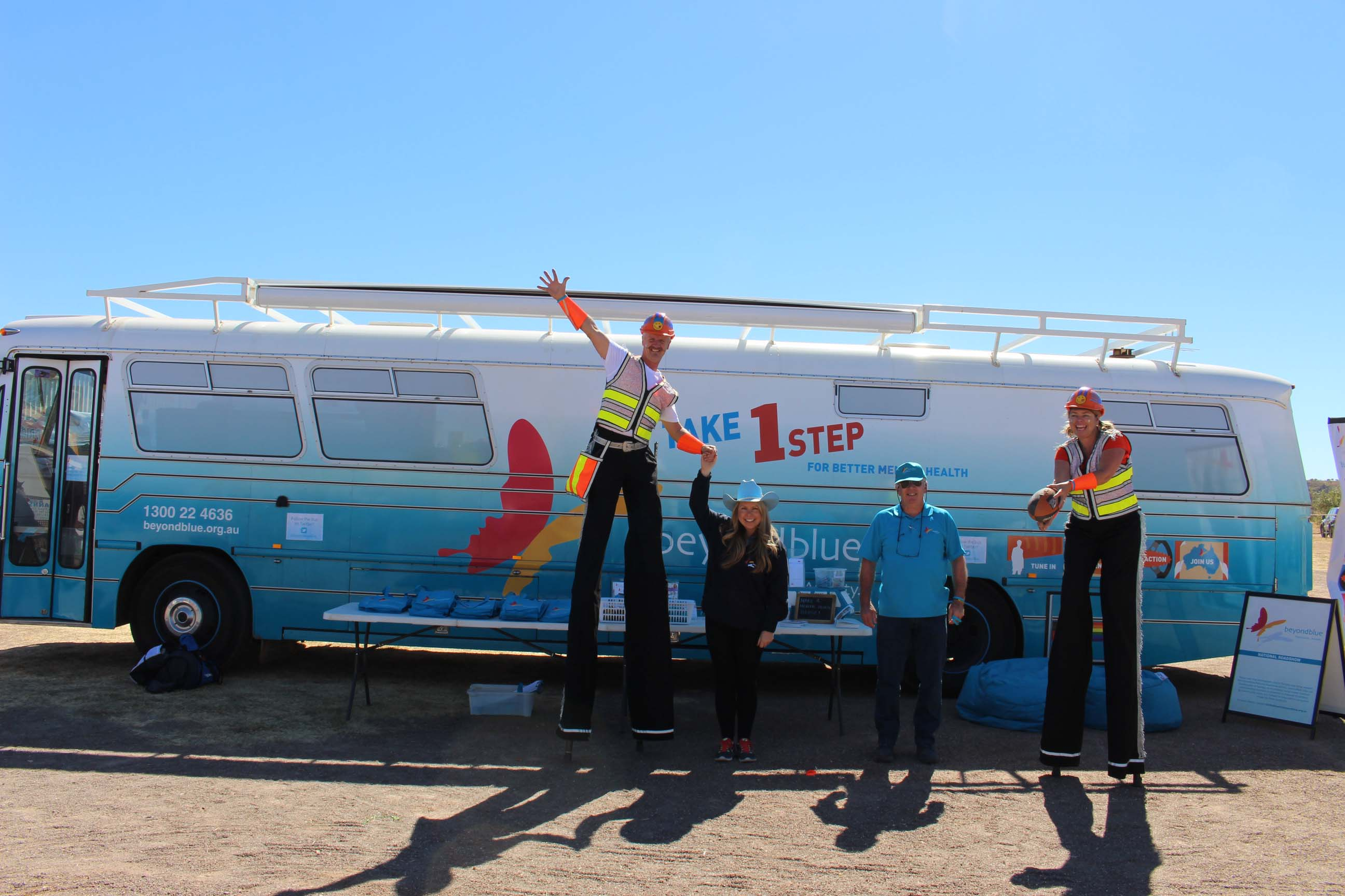 No passengers over 3m please! Tennant Creek's tallest residents.