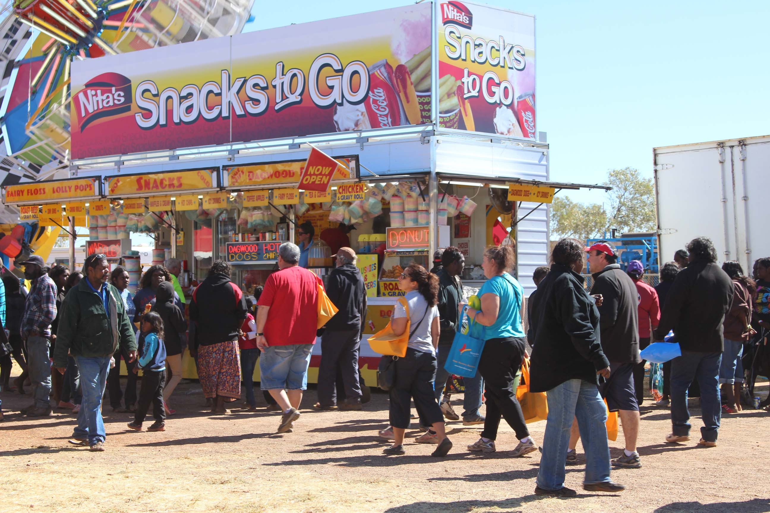 Beyond Blue showbags could be spotted among the crowd at the Tennant Creek Show.