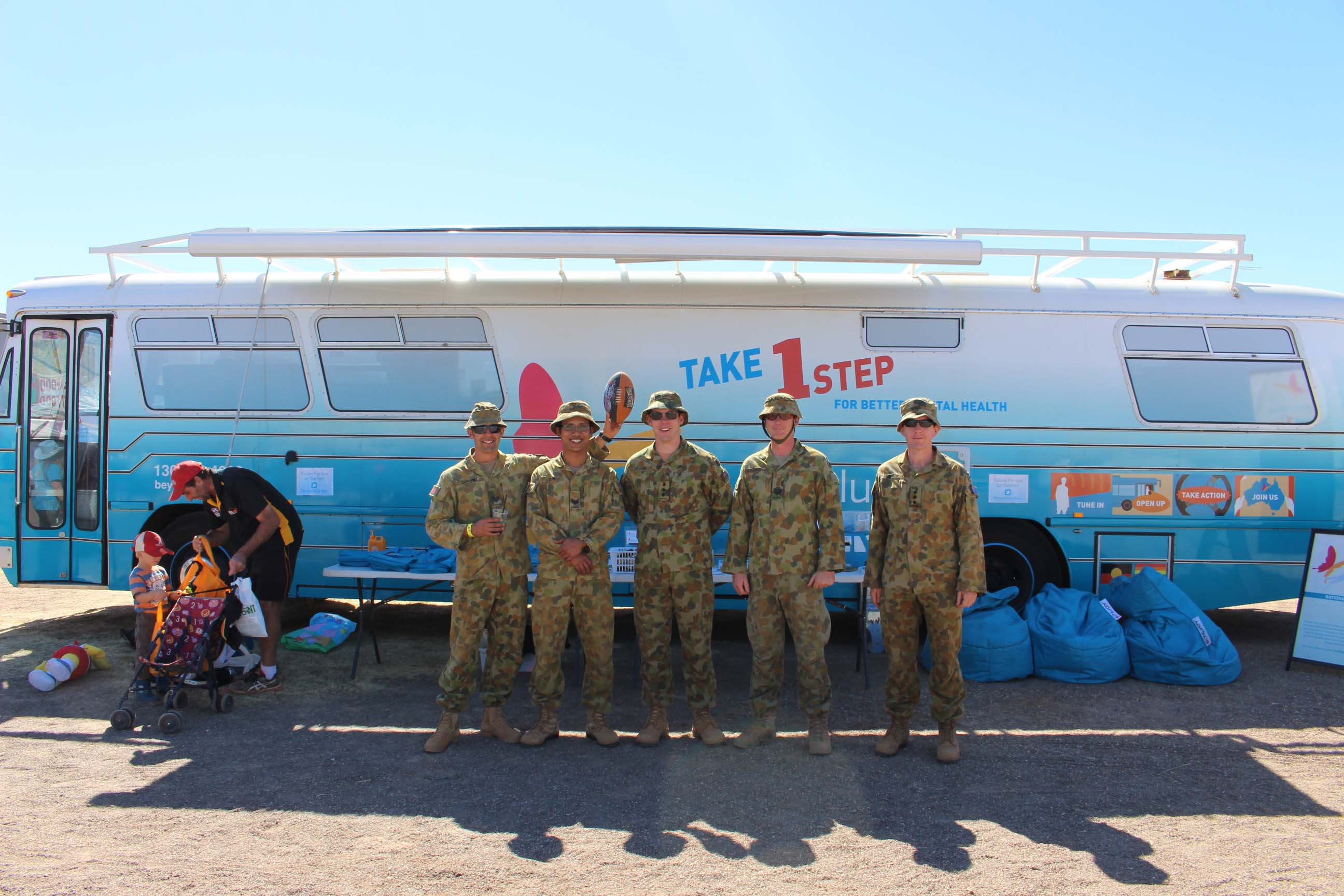 Members of the Australian Defence Force enjoyed a day at the Tennant Creek Show.