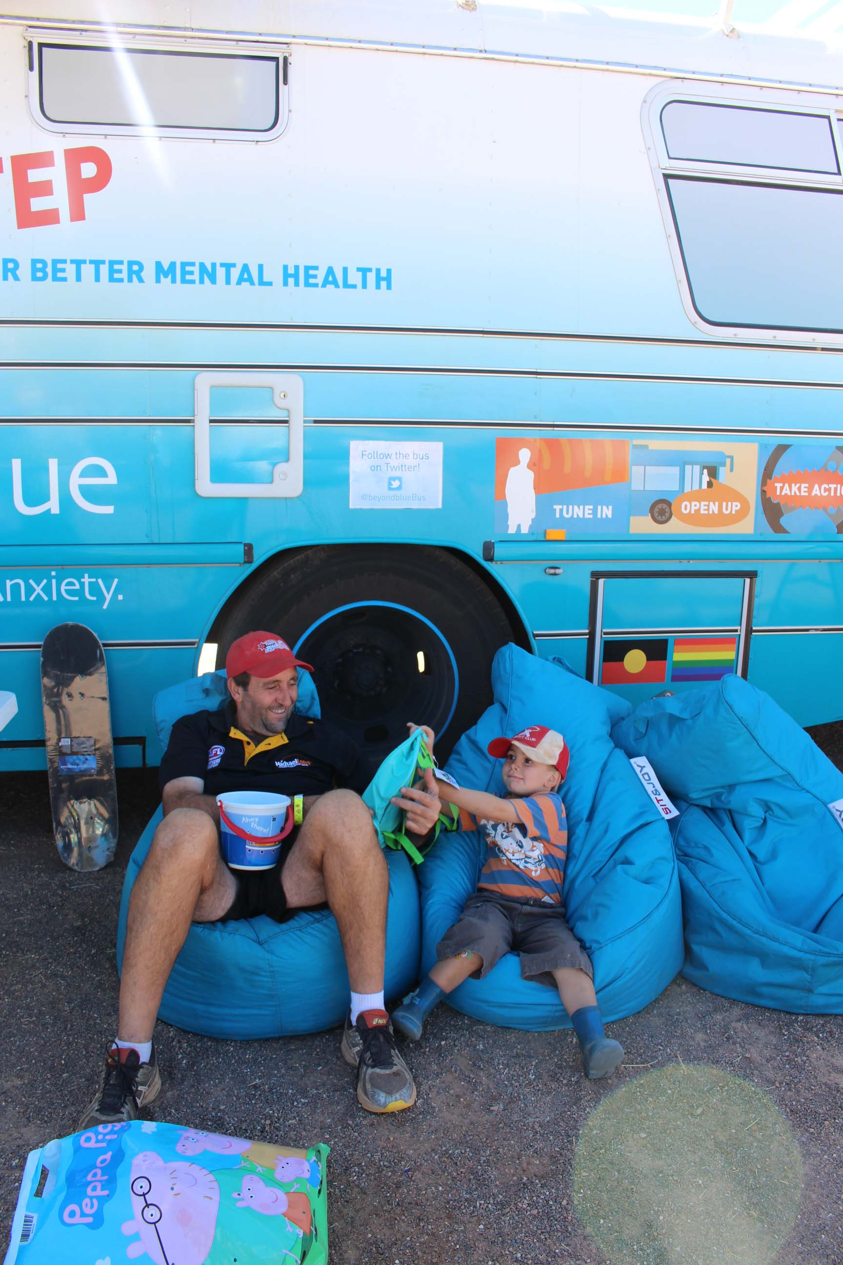 Taking a load off at the Tennant Creek Show.