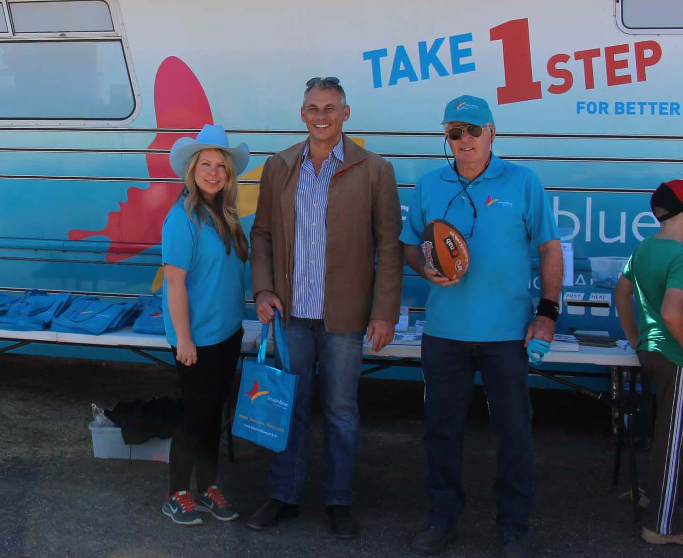 NT Chief Minister Adam Giles dropped by to say hello at the Tennant Creek Show.