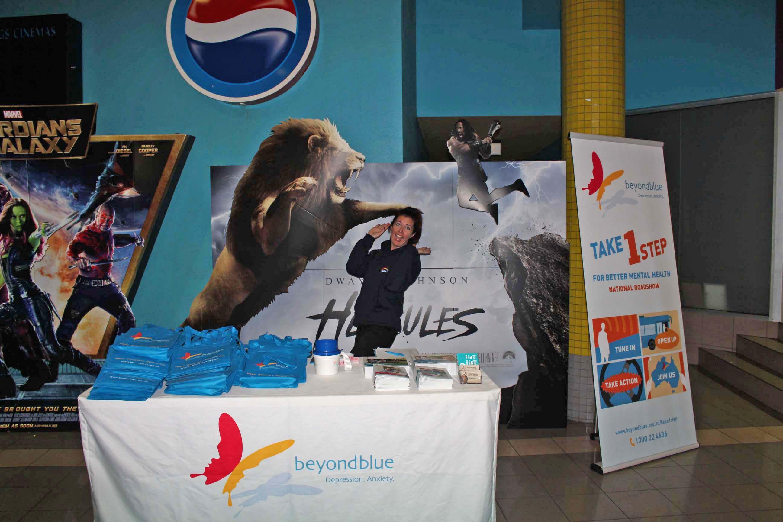 At the movie night in Alice Springs.