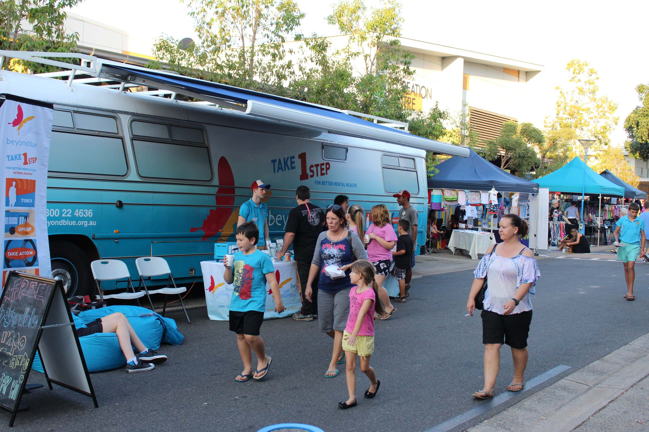The bus set up at the Palmerston Markets.