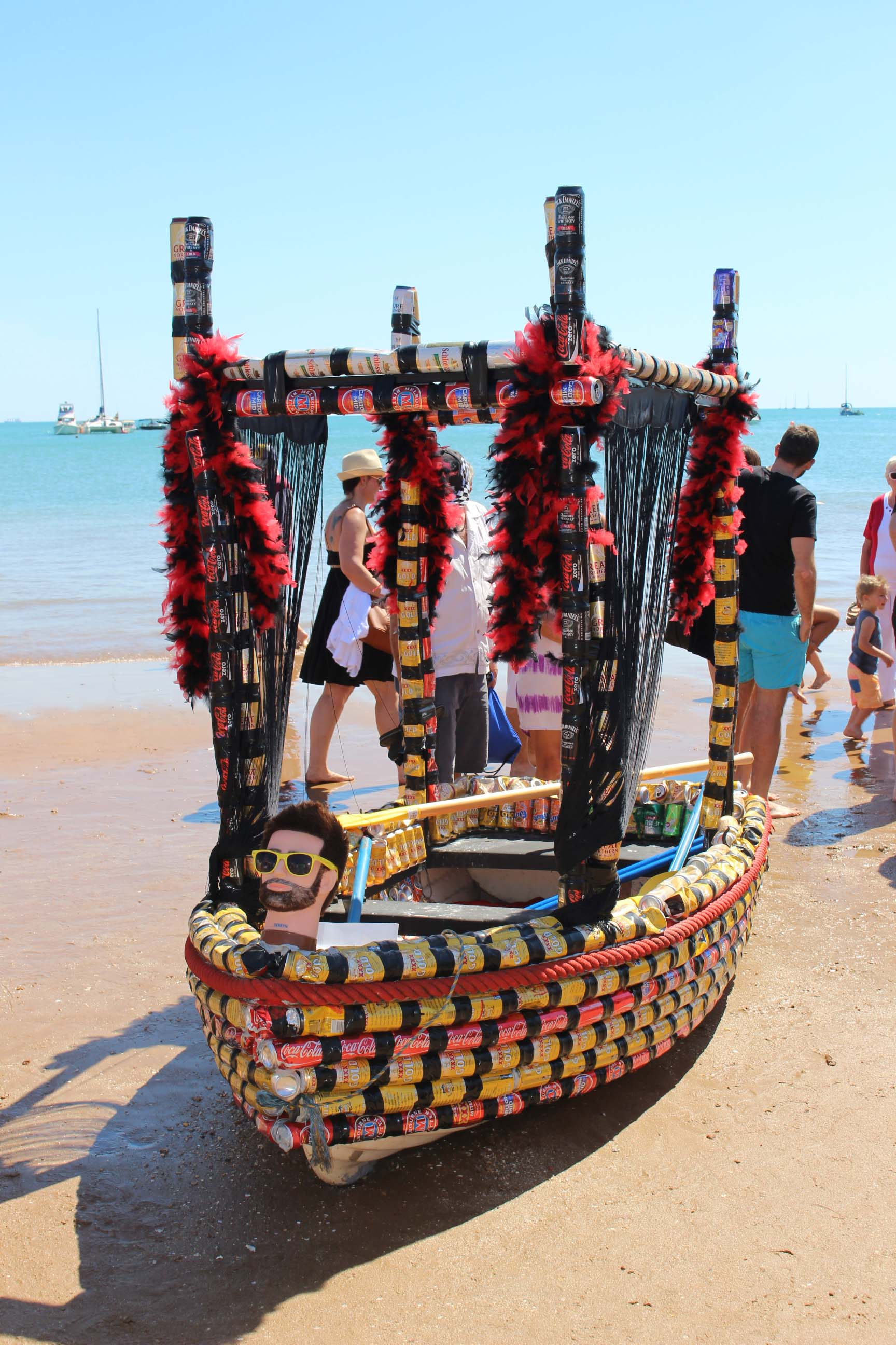 One of the vessels taking part in Darwin's Beer Can Regatta.