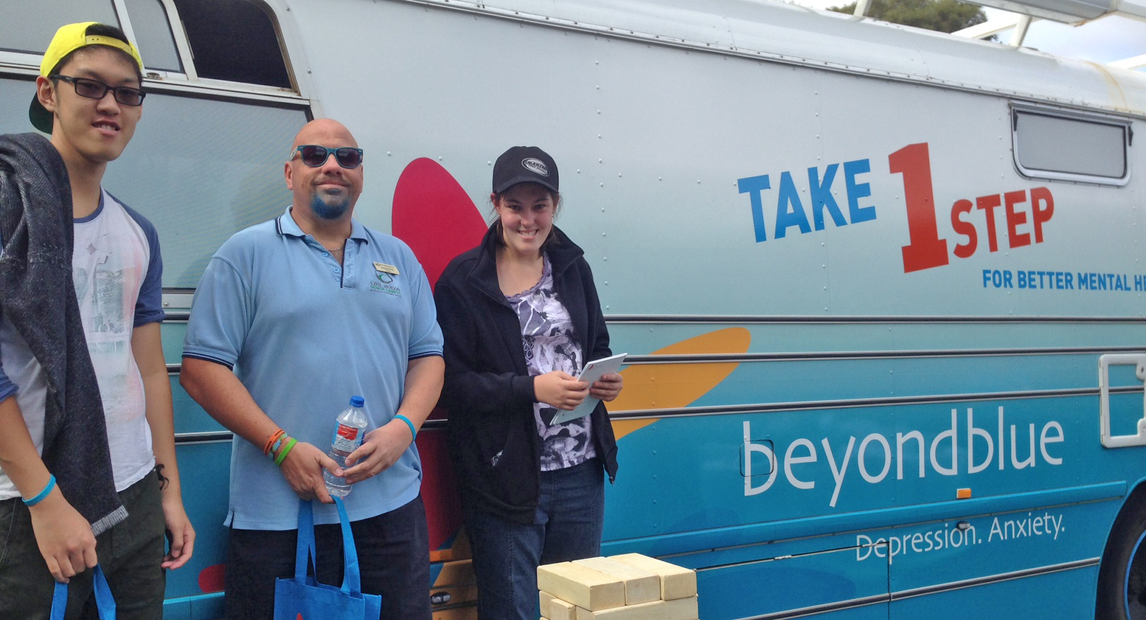 The bus was popular at Cyril Jackson's school health expo.