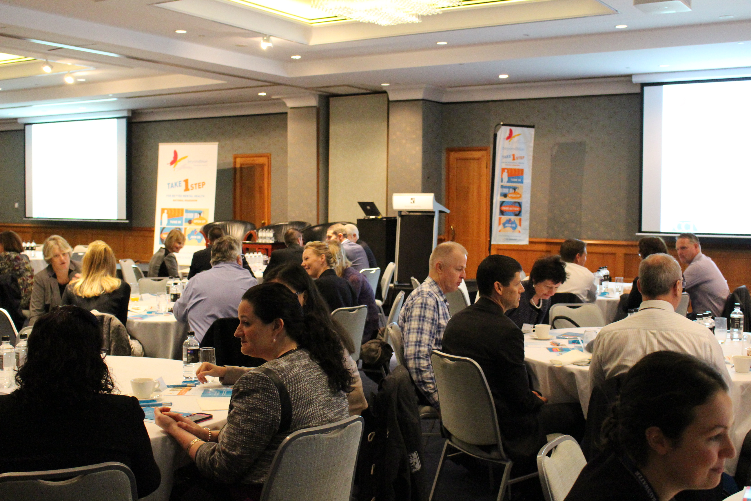 Business leaders 'Take 1 step' at the workplace breakfast in Perth.