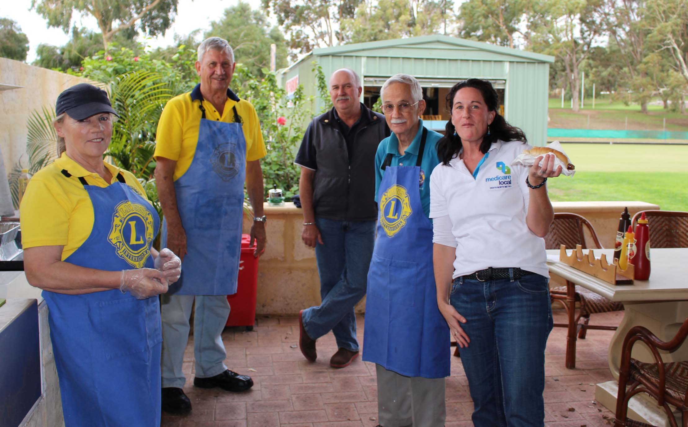 The Lions Club cooked up a delicious barbecue at the Sorrento Bowling Club in Duncraig.