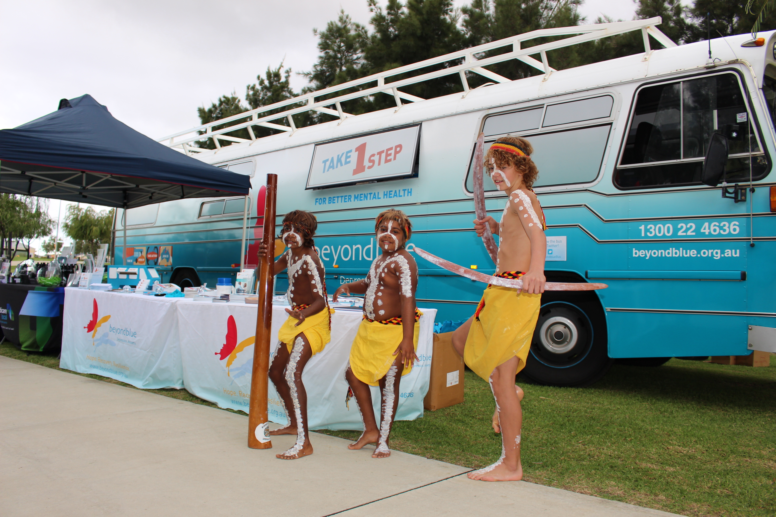 Traditional dance at the City of Wanneroo's National Reconciliation Week event in Banksia Grove.