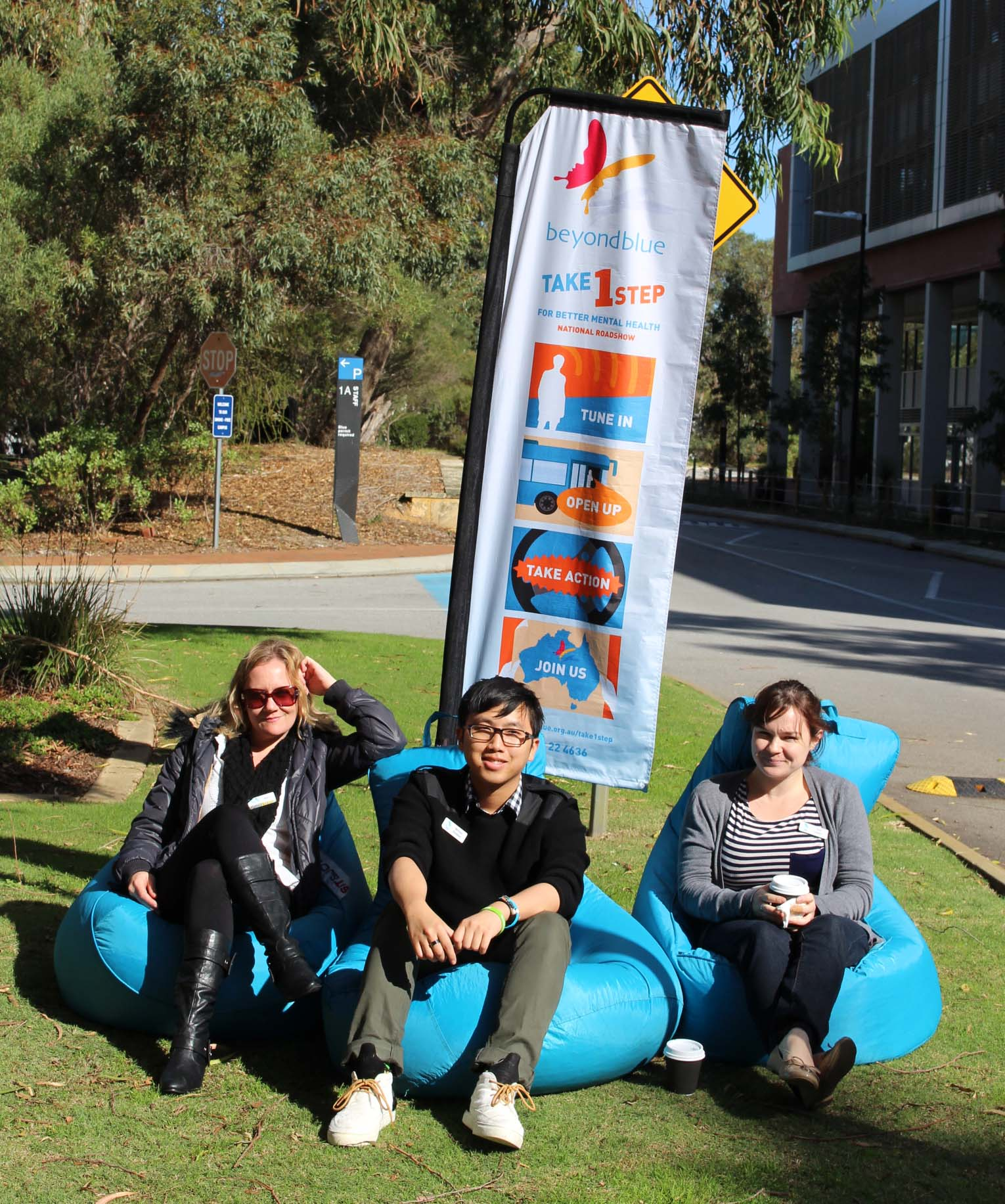 Taking a load off at Edith Cowan University.