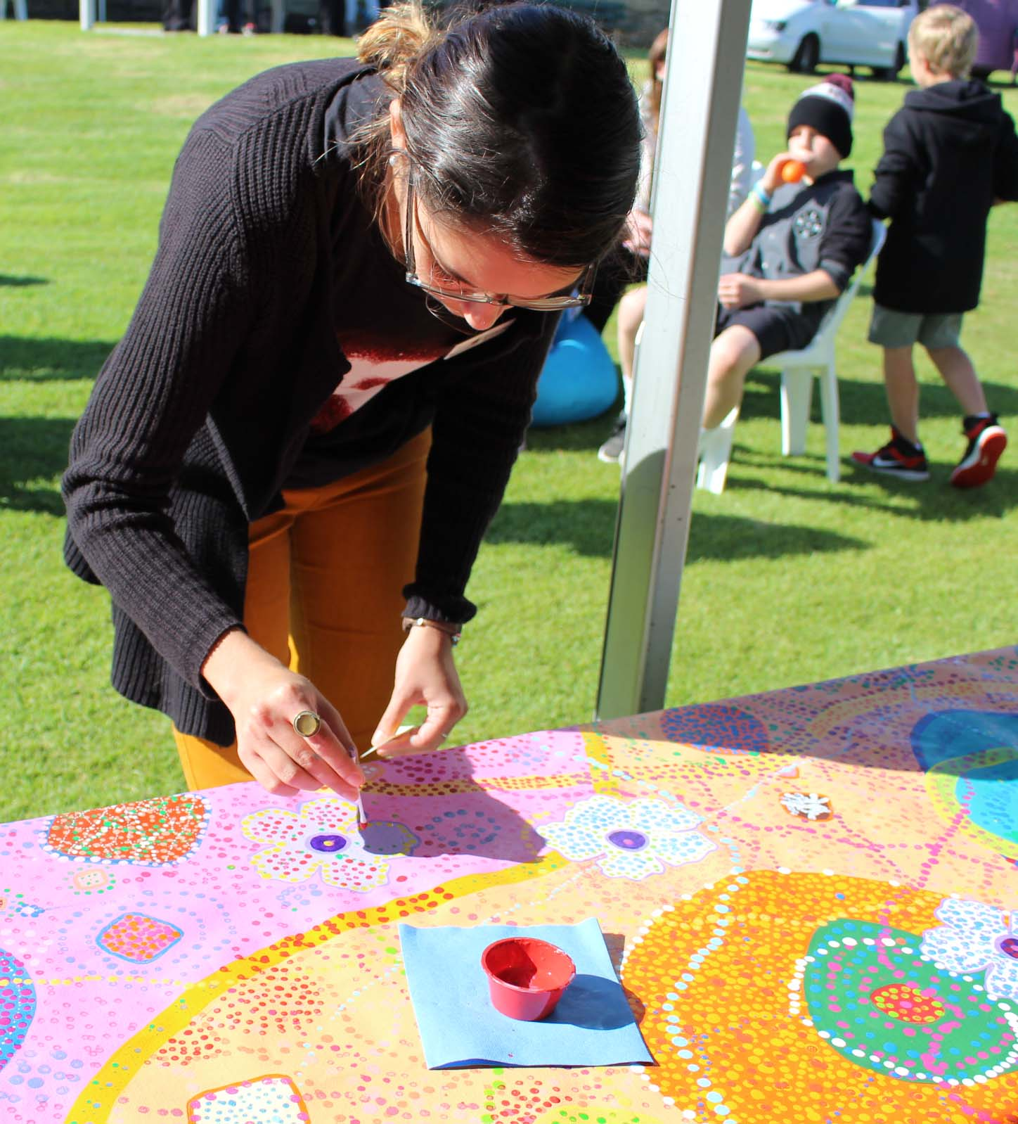 Community art at the National Reconciliation Walk in Scarborough.