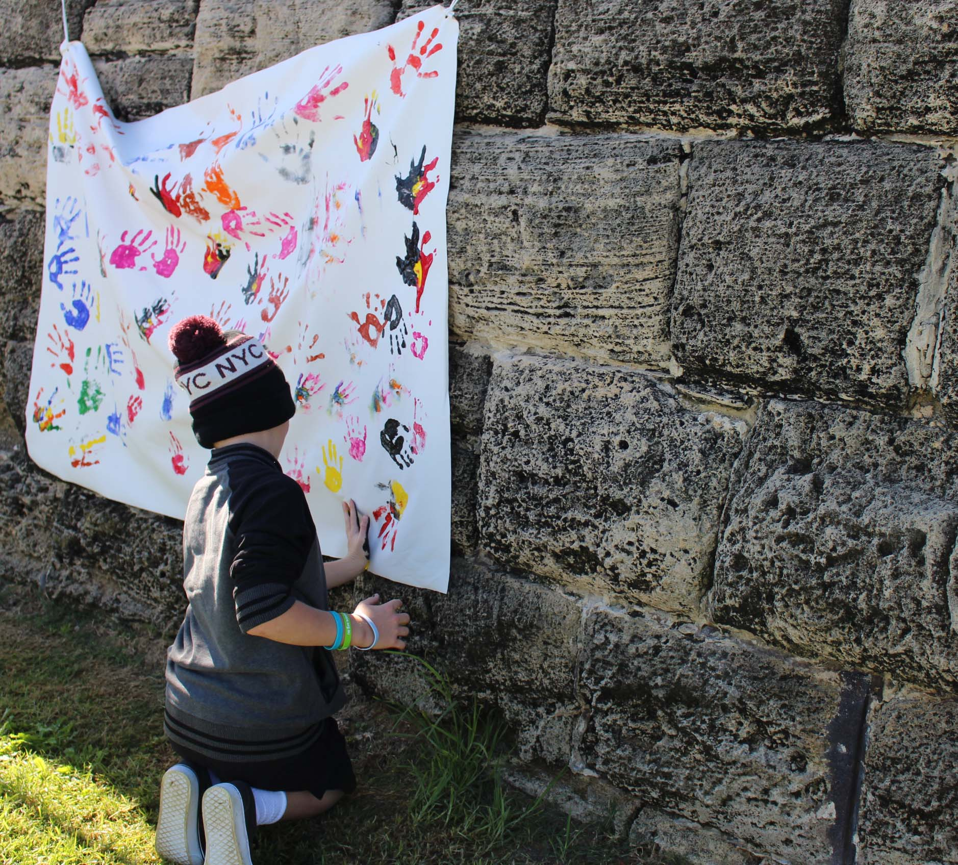 Reconciliation art at the City of Stirling Reconciliation Week event in Scarborough.