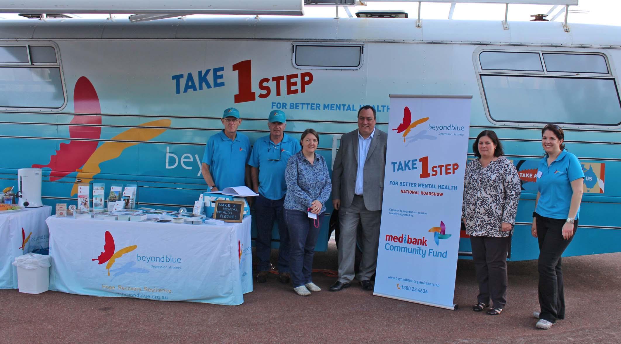 Meeting Medibank staff in Osborne Park.