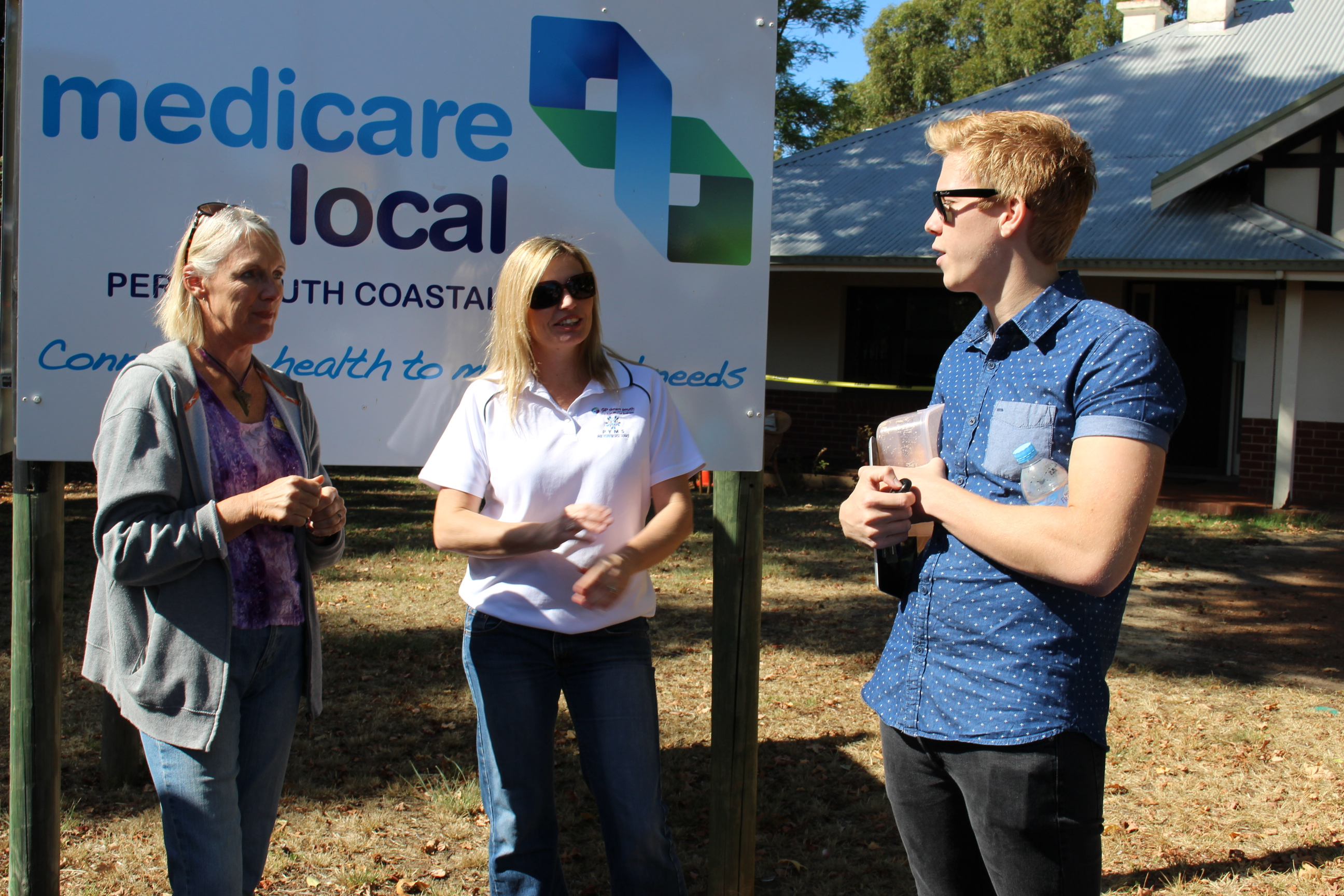 Chatting to the community at Perth South Coastal Medicare Local office.