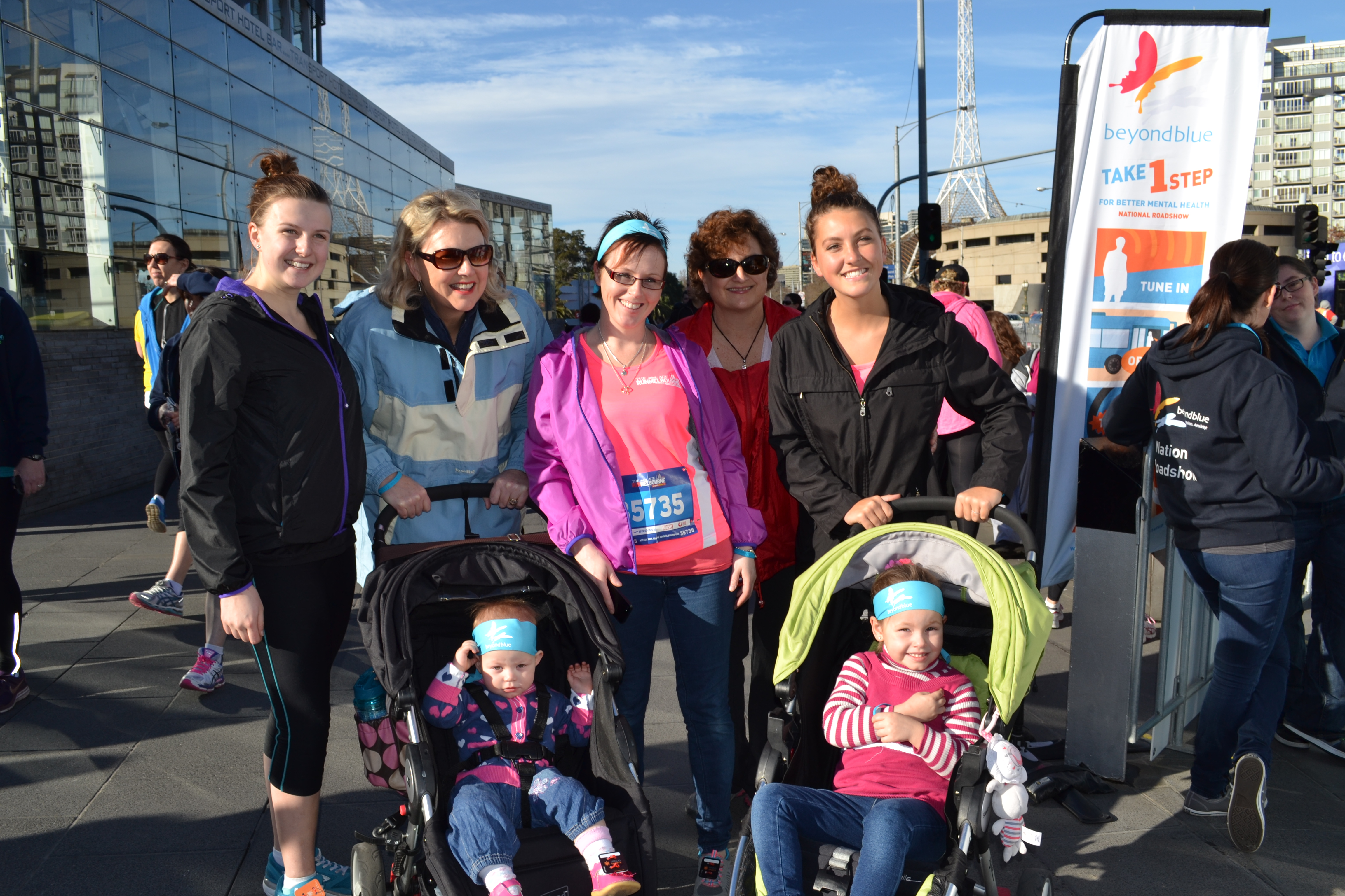 Prams were helping get our youngest supporters involved in Run Melbourne!