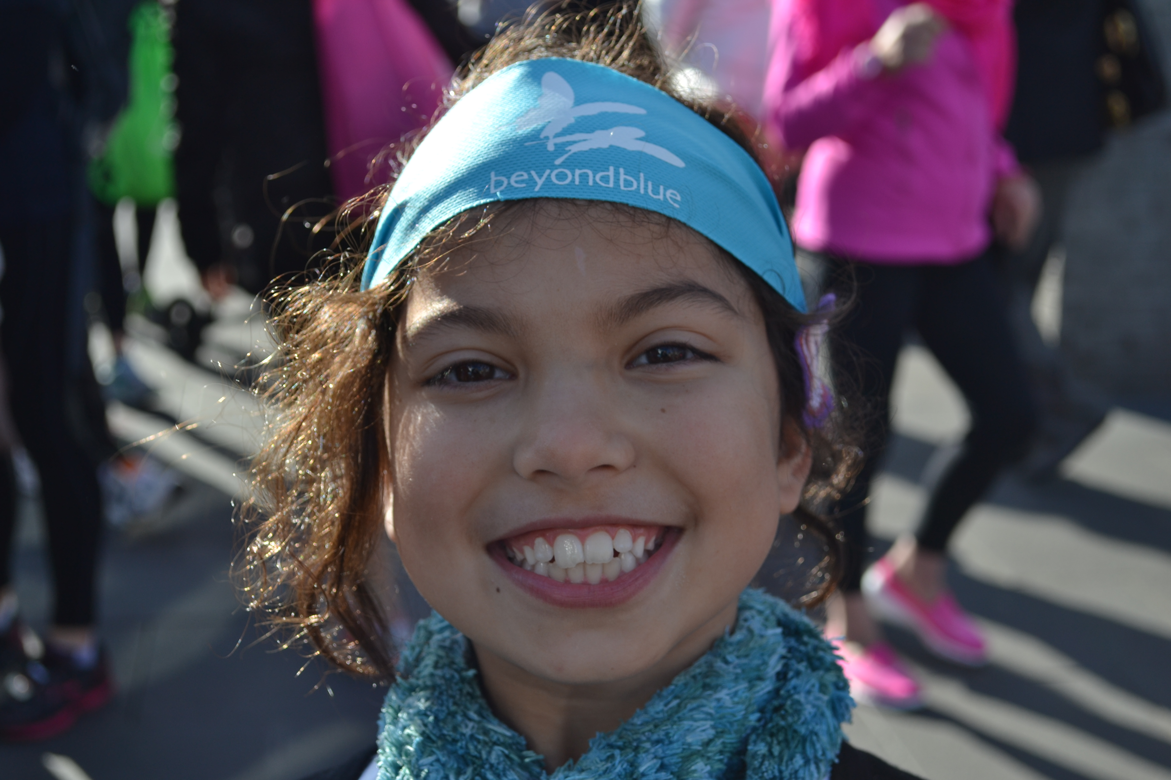 Beyond Blue headbands were a popular accessory at Run Melbourne.