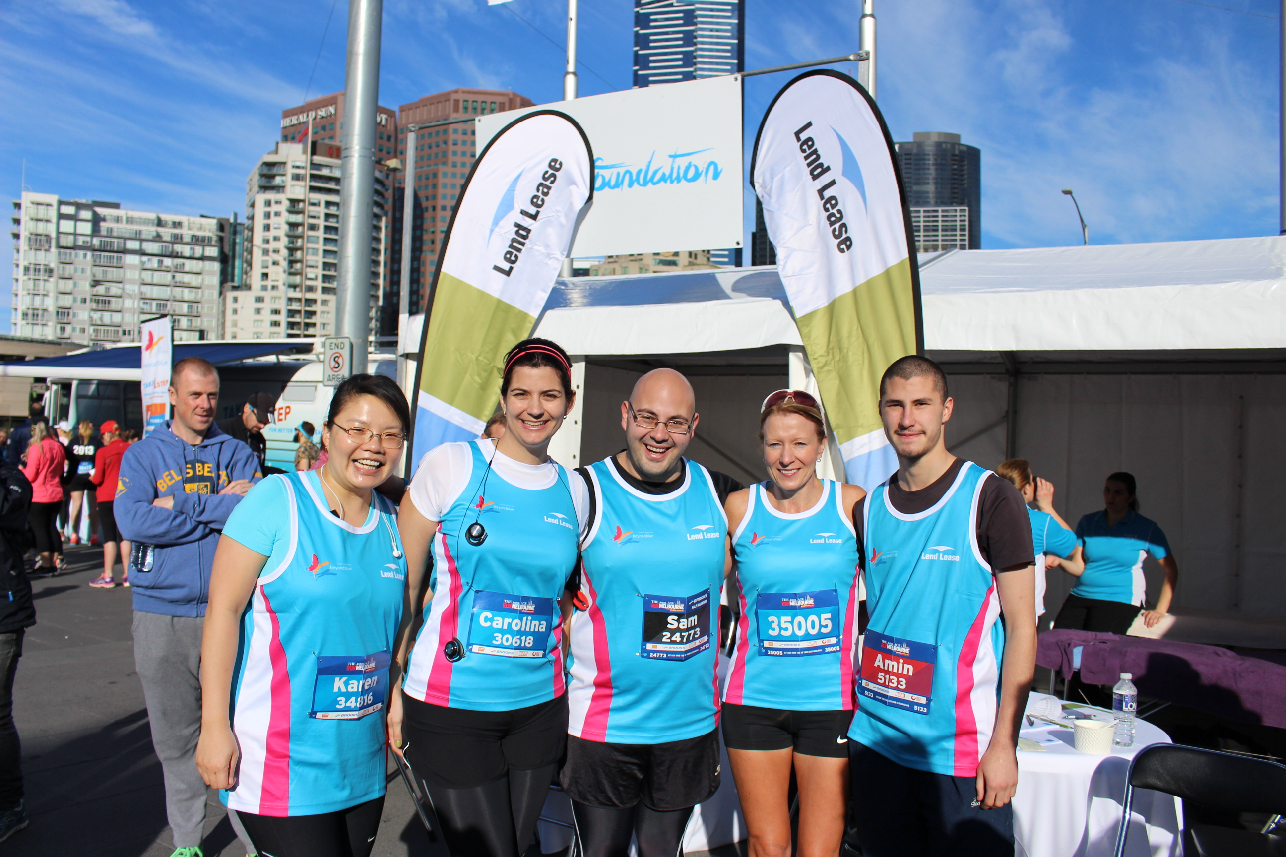 Beyond Blue supporters from the LendLease team ready to take on the 5km.