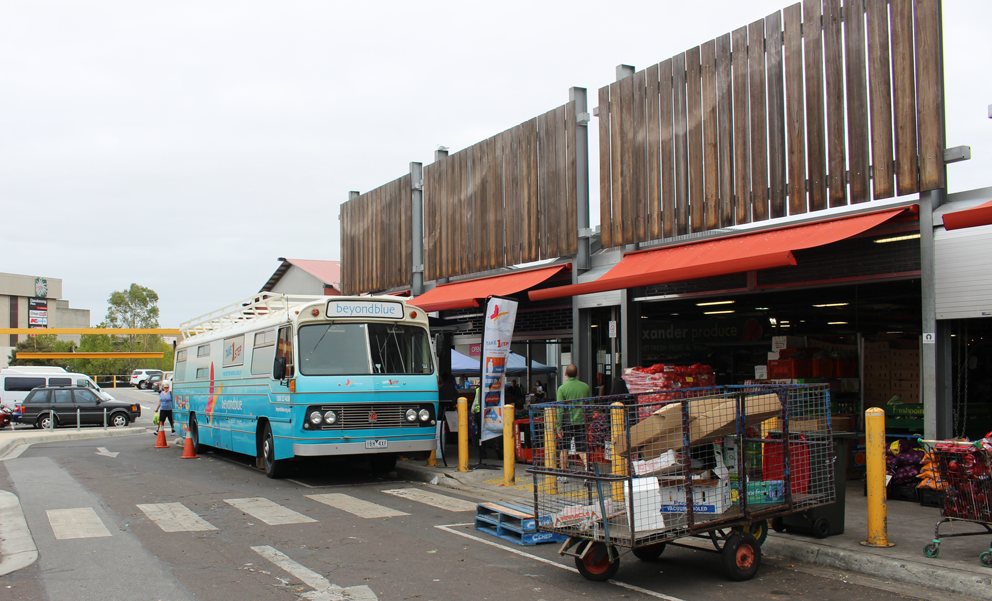The bus at Dandenong Market.