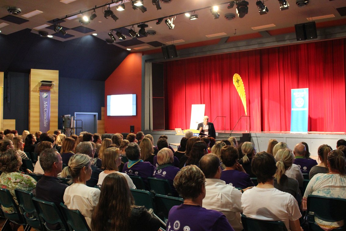 Child and adolescent psychologist Dr Michael Carr-Gregg presents at the forum in Pakenham.