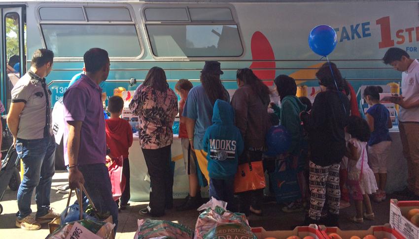Resources were popular at Dandenong Market.
