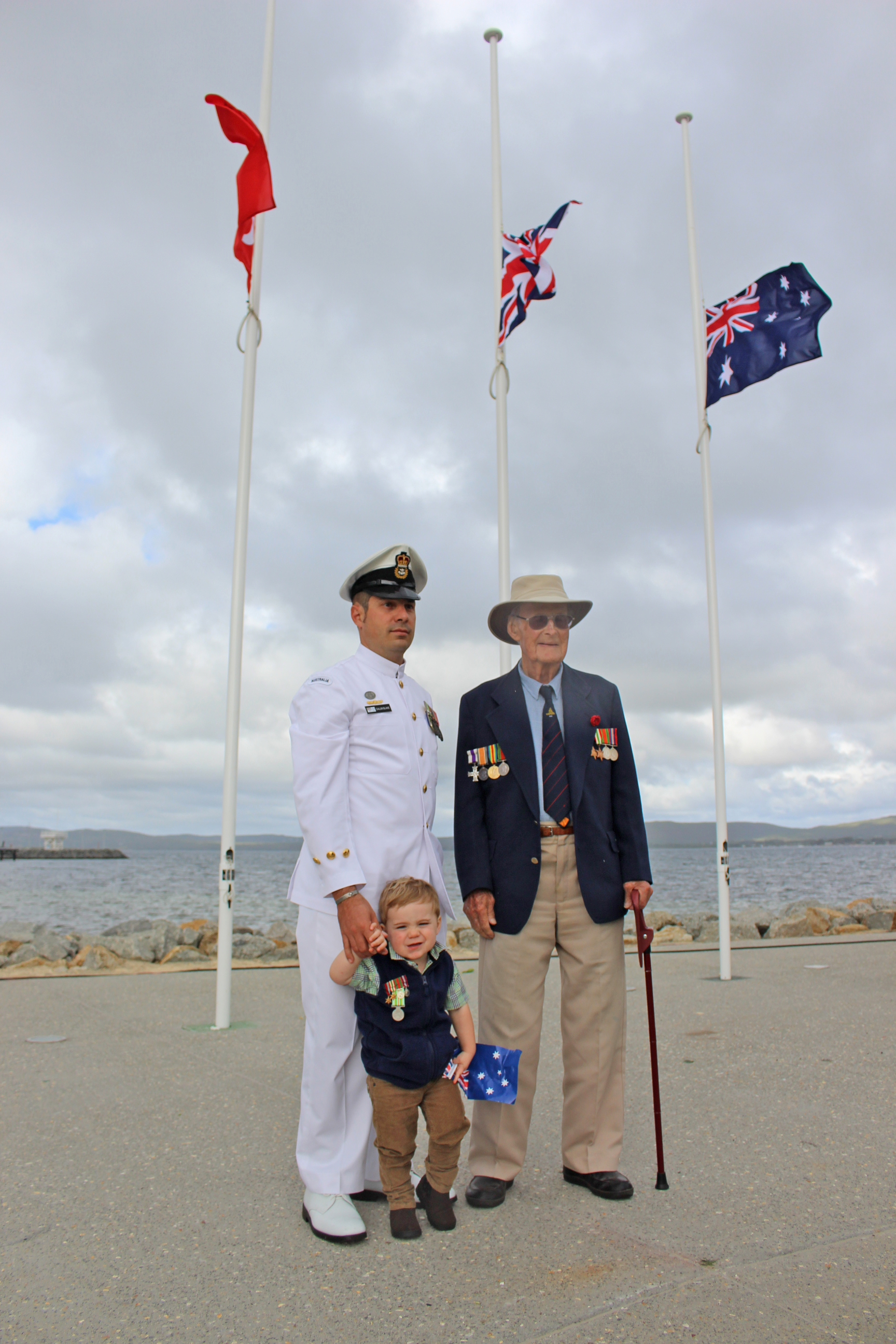 Generations unite on Anzac Day in Albany.
