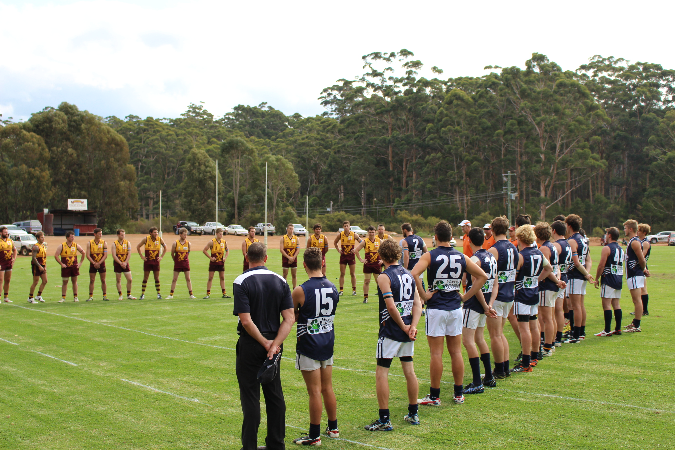 Anzac round tribute ahead of Deanmill vs Kojonup clash.