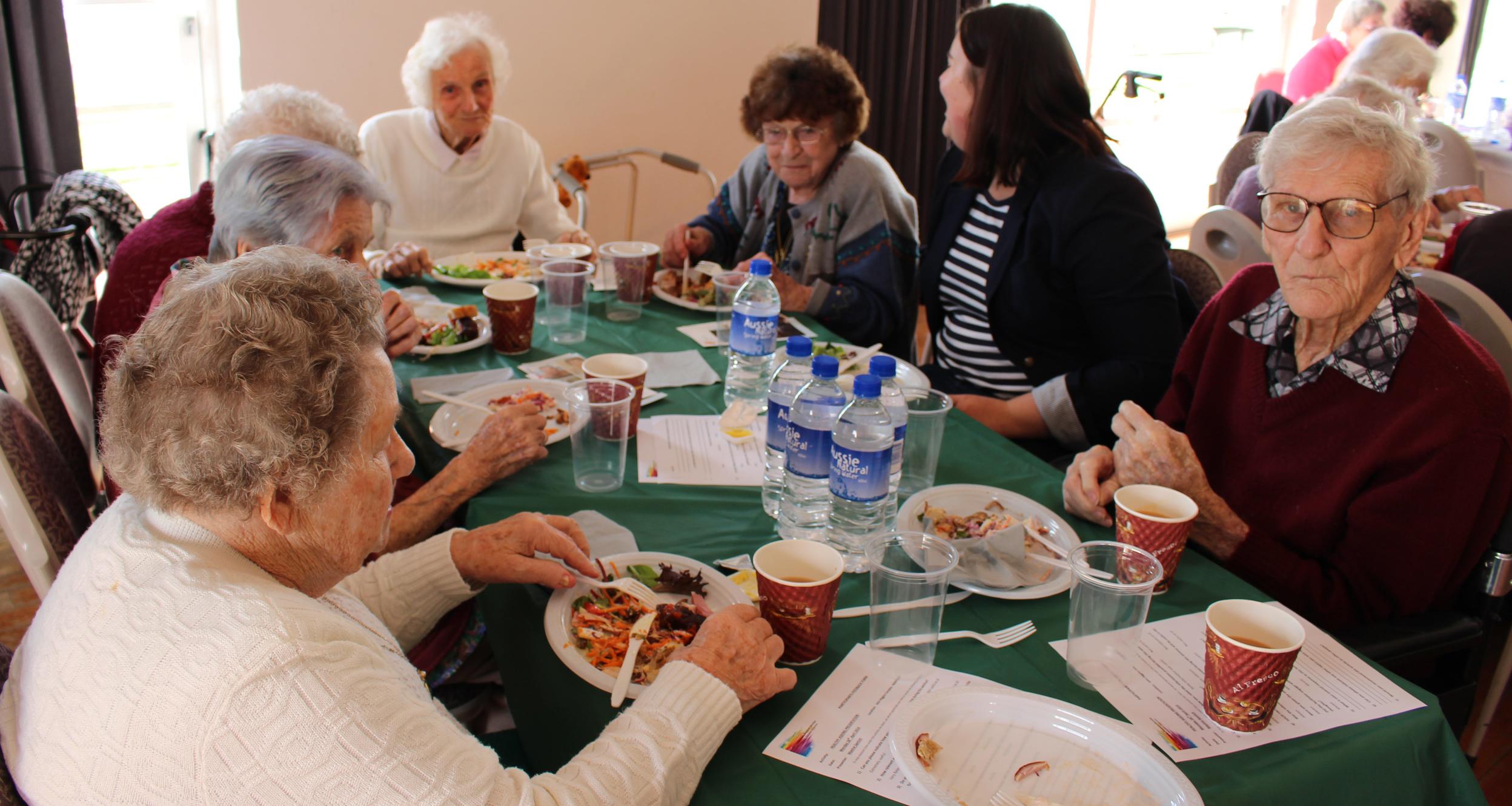 Healthy ageing seniors luncheon in Narrogin.