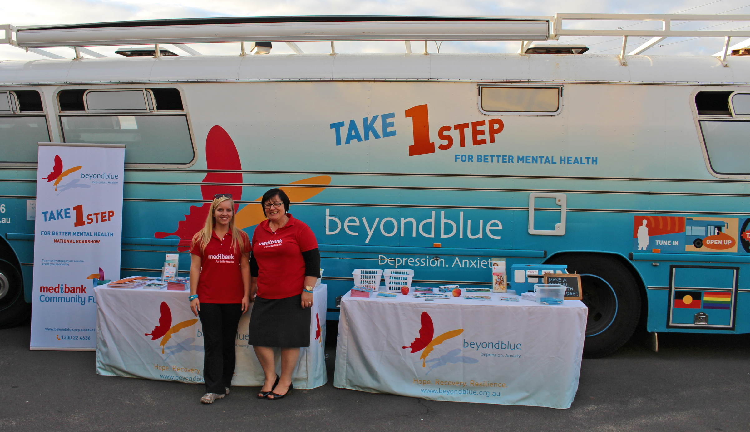 Medibank came along to support our Bunbury visit.