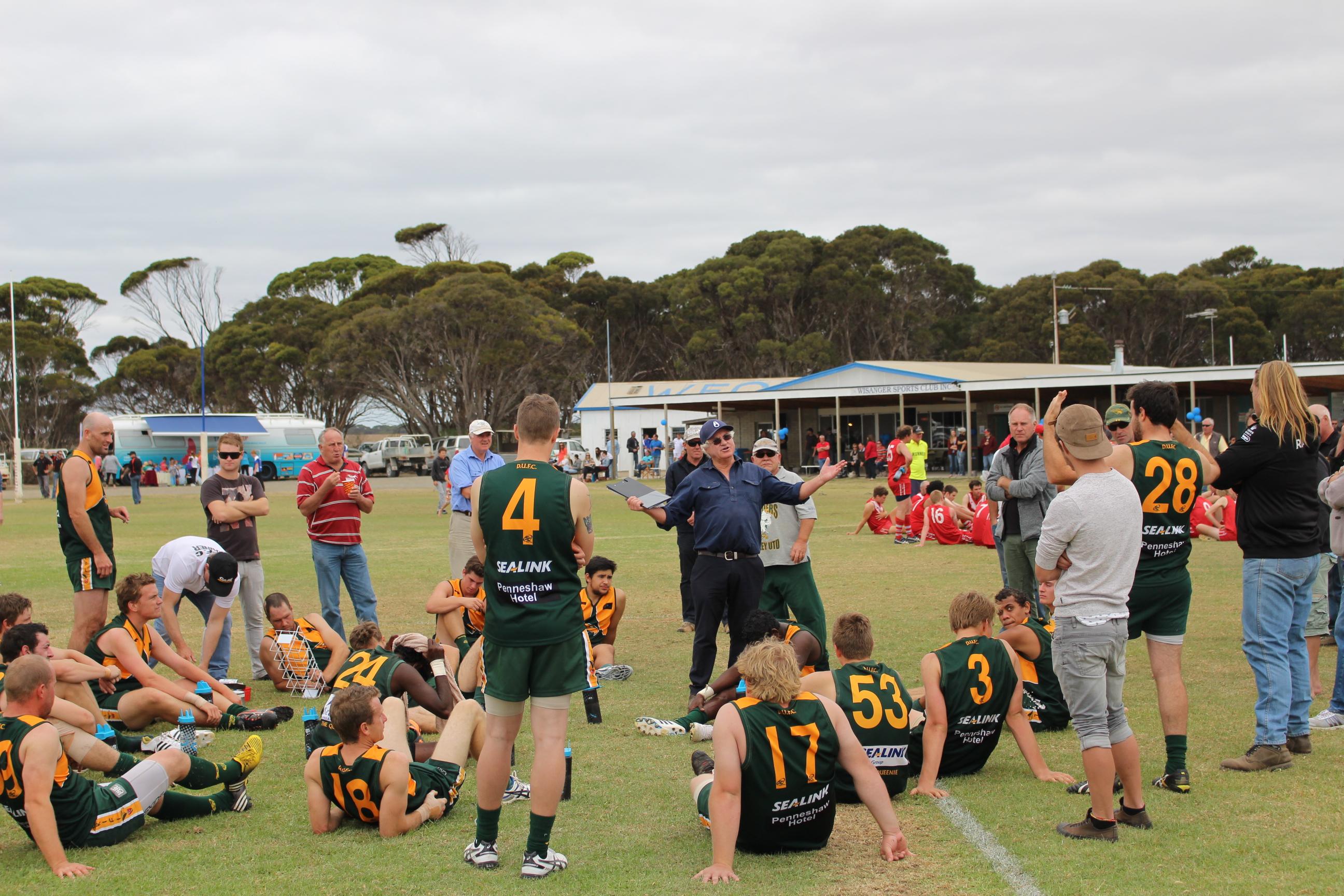 Taking a break - round 1 of Kangaroo Island Football League.