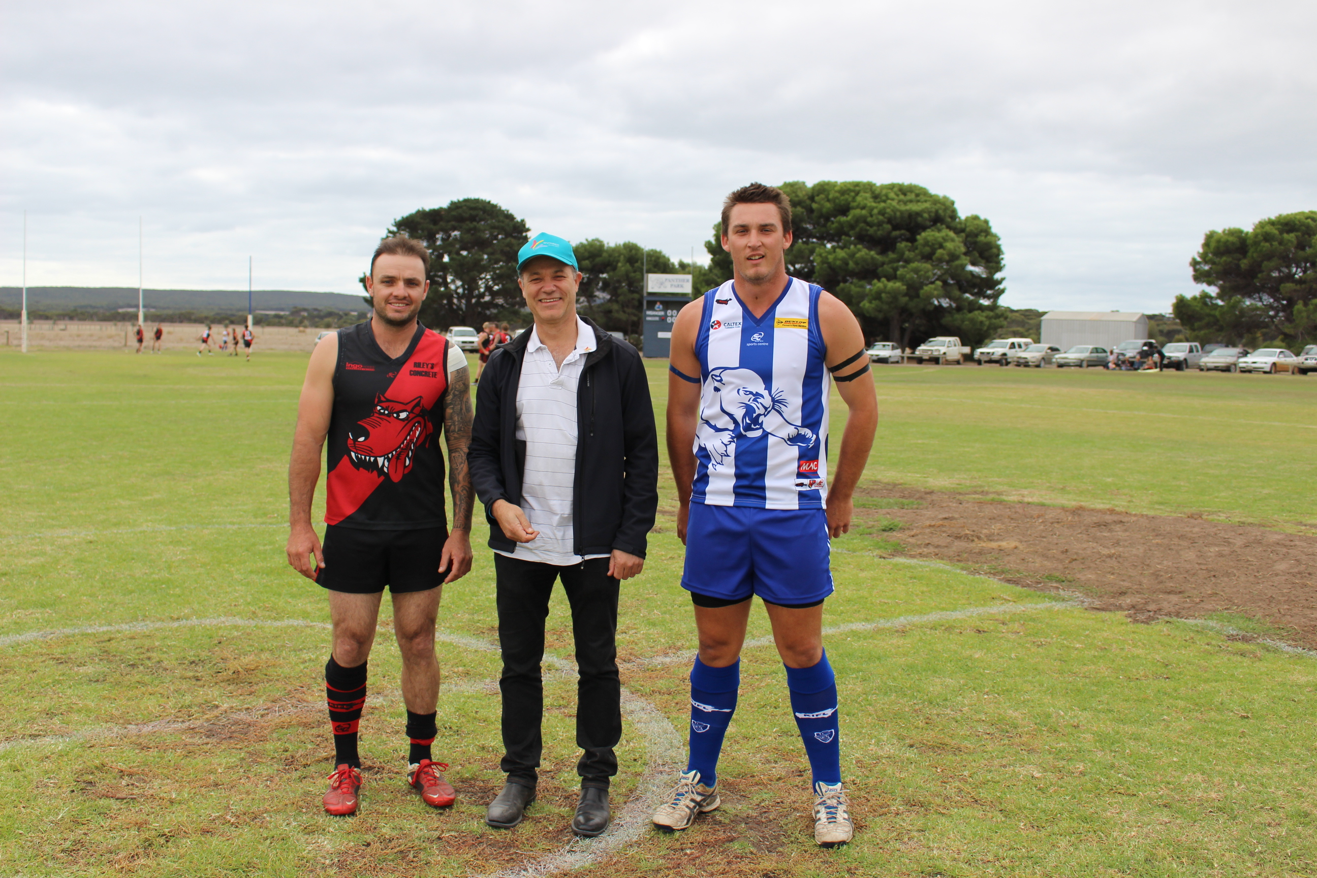 Beyond Blue Board Director Associate Professor Michael Baigent with Kingscote and Wisanger captains.