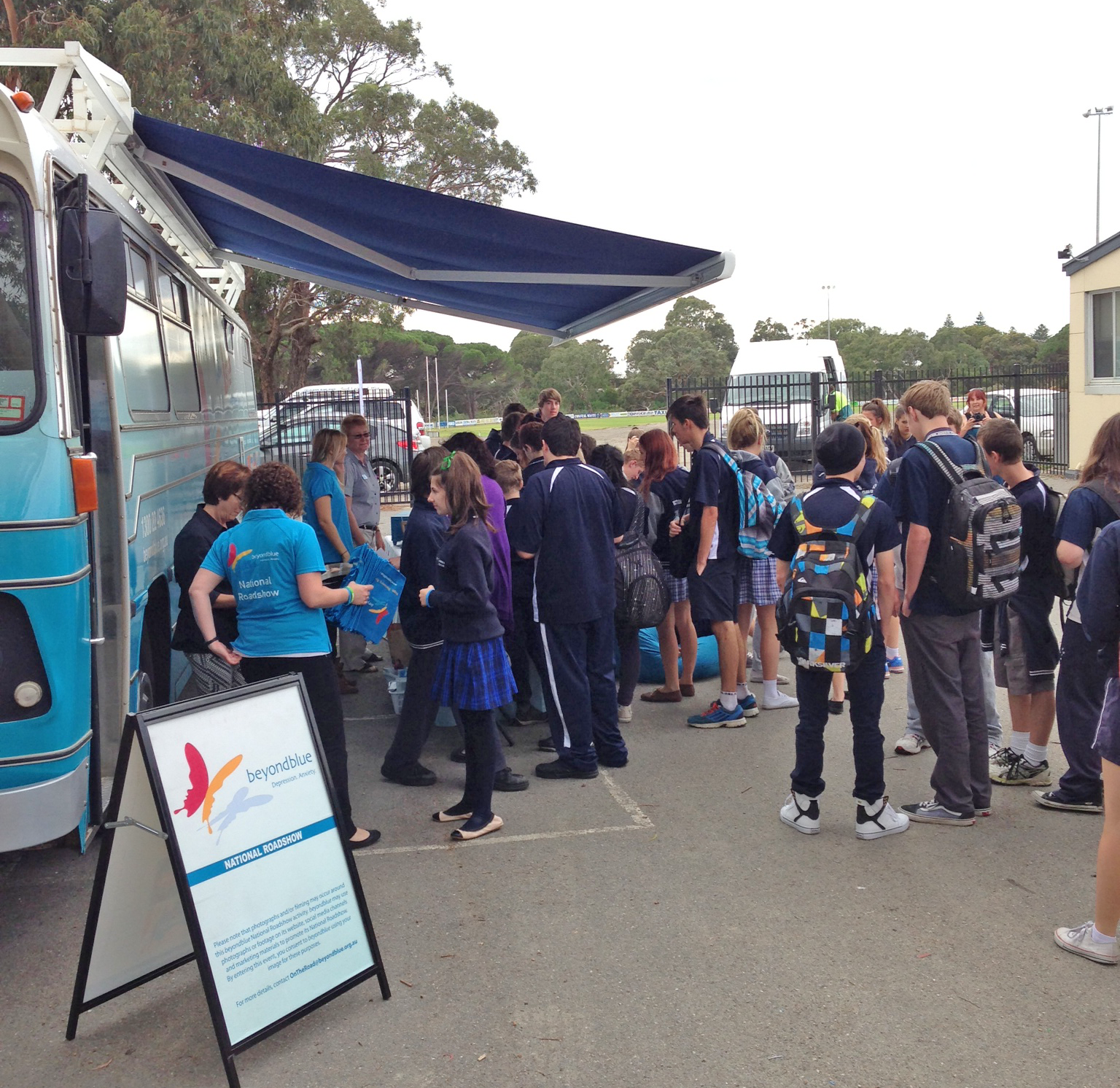 Chatting with students at Victor Harbor High School.
