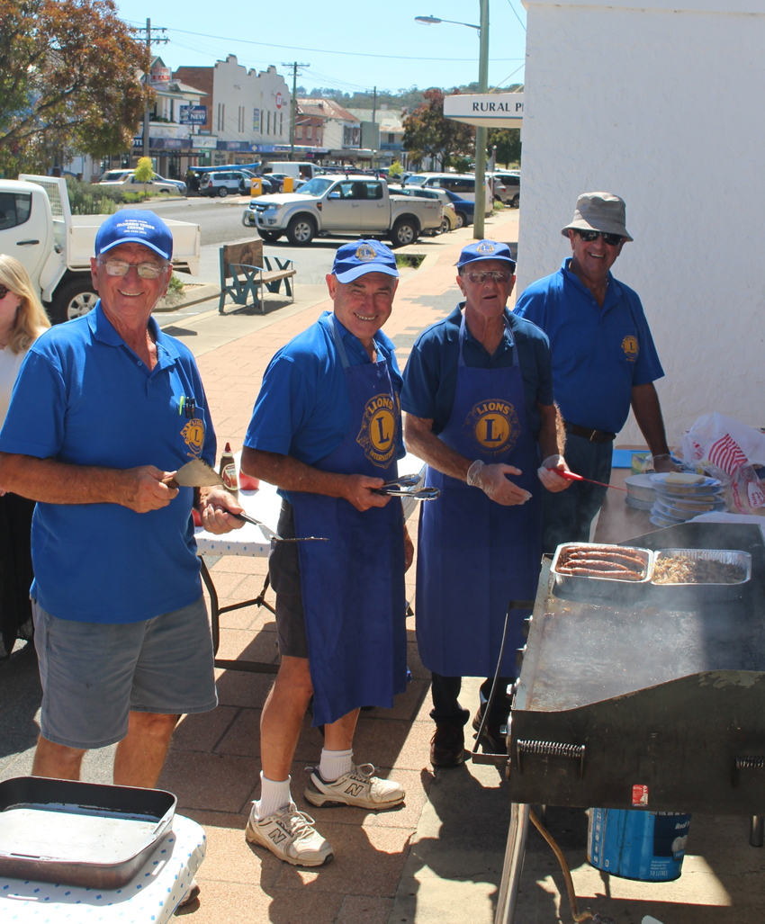 The Lions Club of Bombala cooked up a free barbecue out the front of the Bombala RSL Club.