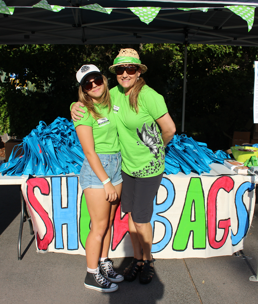 headspace Maroochydore staff ready to welcome visitors to the Hootenanny.