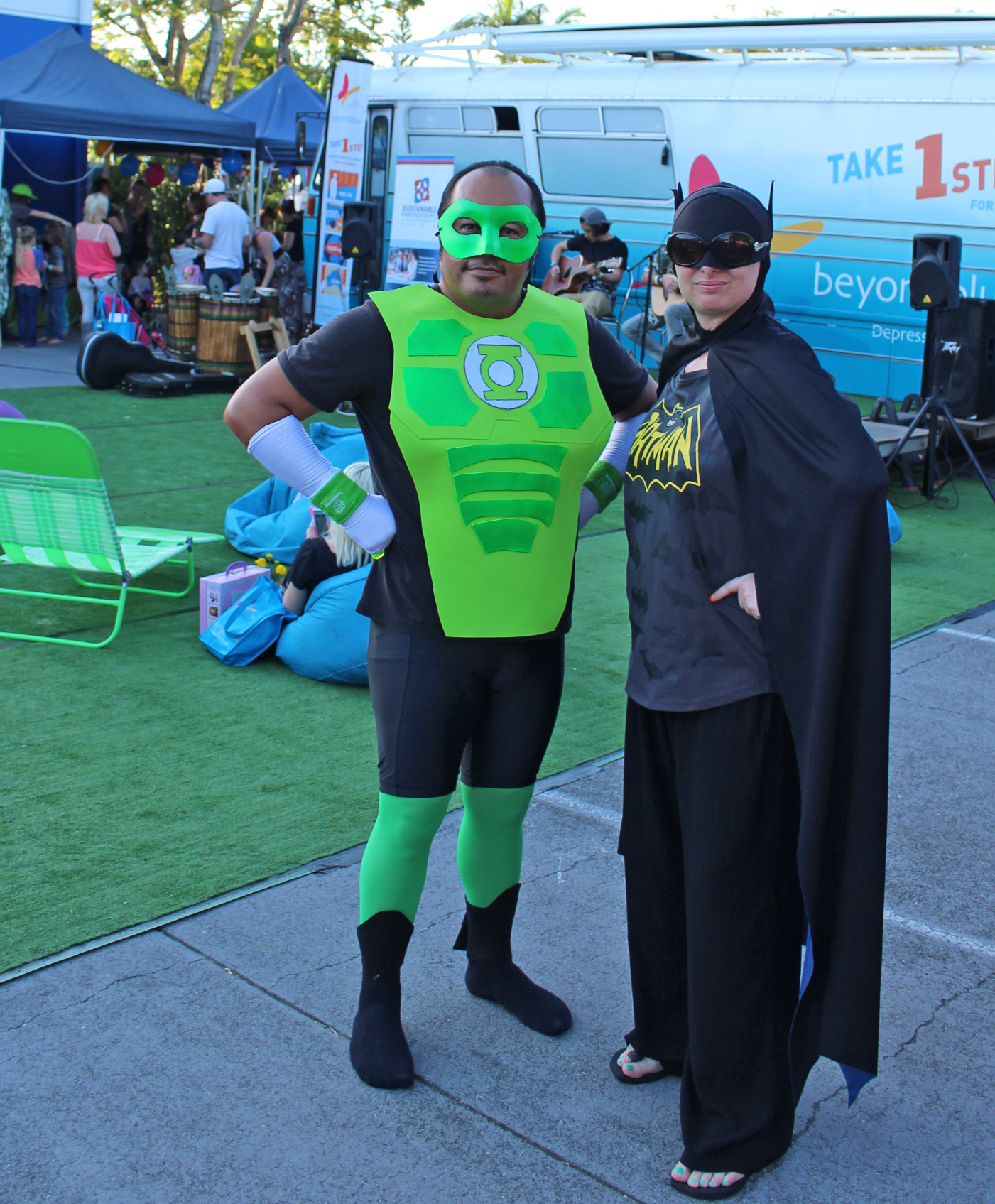 Super heroes were in high demand at the headspace Hootenanny.
