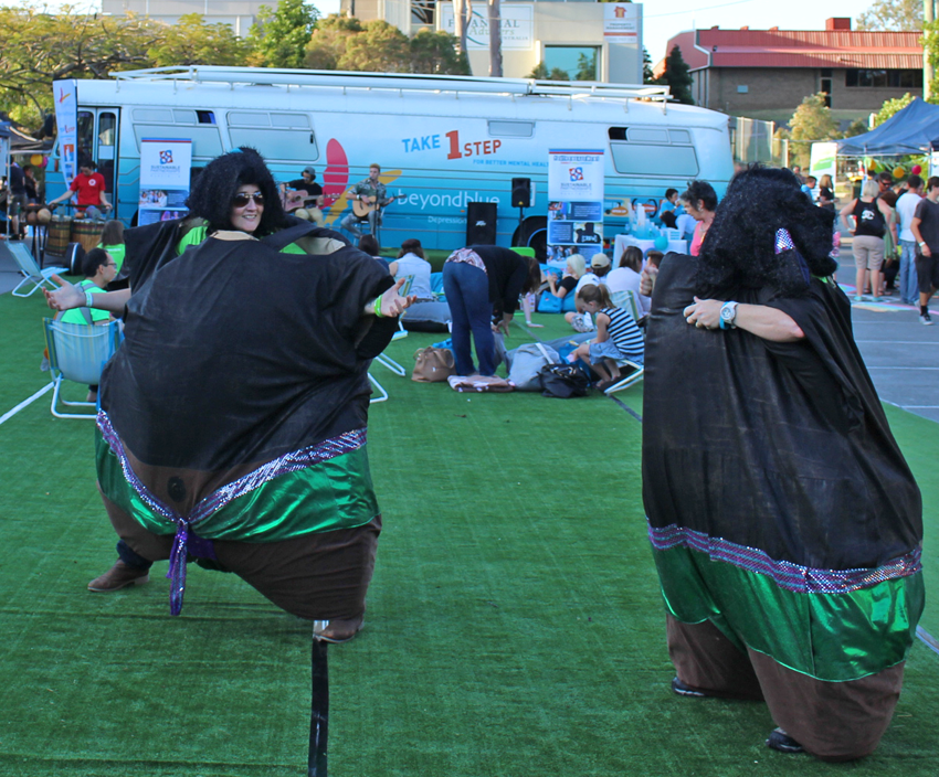 Sumo suit fun at headspace.