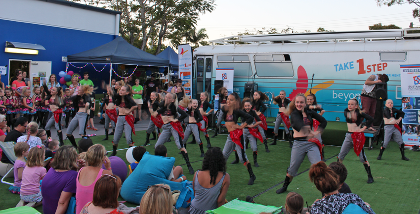 Dancers entertain the crowd at the headspace Hootenanny.