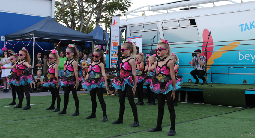 A local dance school performed a number of routines at the headspace Maroochydore Hootenanny.