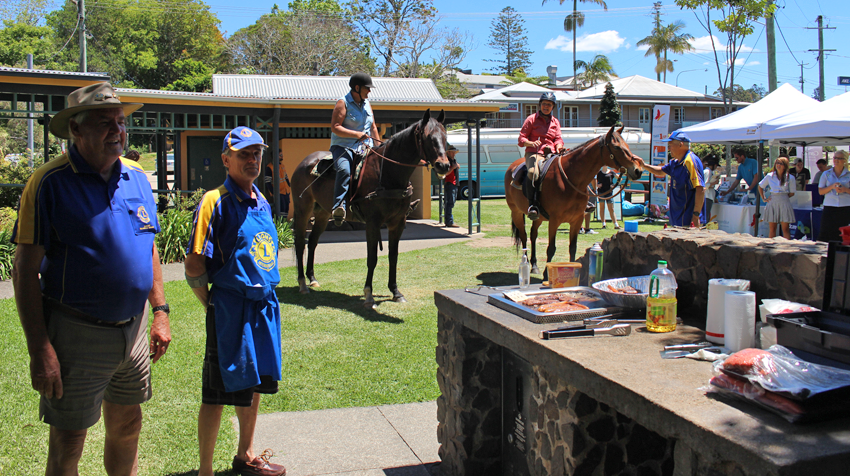 The local Lions Club cooked up a barbecue in Maleny.