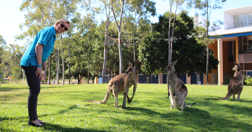 Beyond Blue's Michelle meets the resident Roos at the University of the Sunshine Coast.