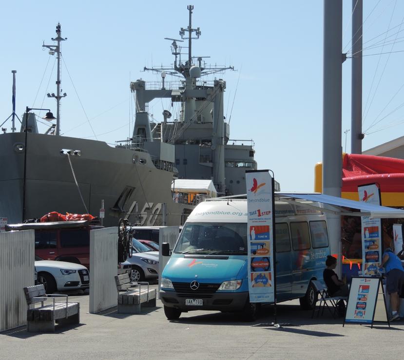 Two mighty modes of transport at Salamanca Market, Hobart.
