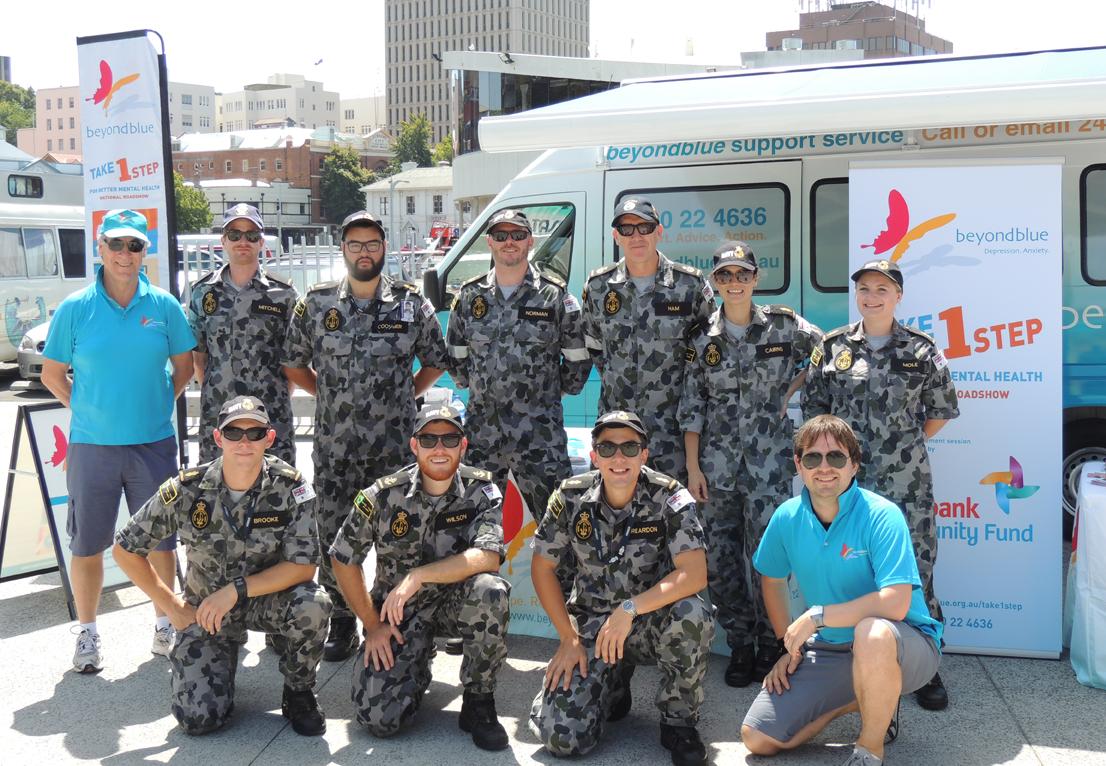 The Roadshow meets the Navy at Salamanca Market, Hobart.