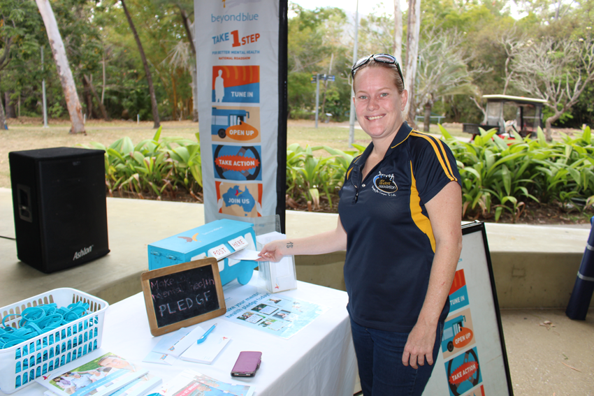 Making a mental health pledge at James Cook University in Townsville.