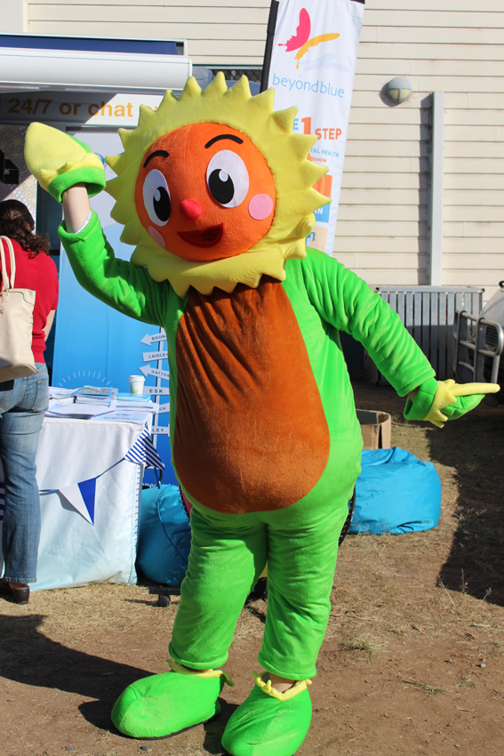 A sunny character at Fernvale Markets!