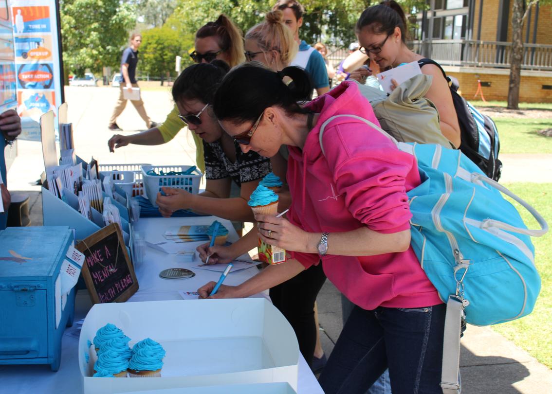 Cupcakes and pledges at UQ in Gatton.