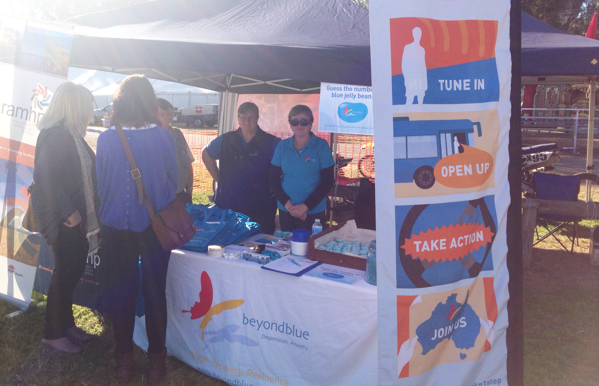 Providing free Beyond Blue resources at the Condobolin Show.