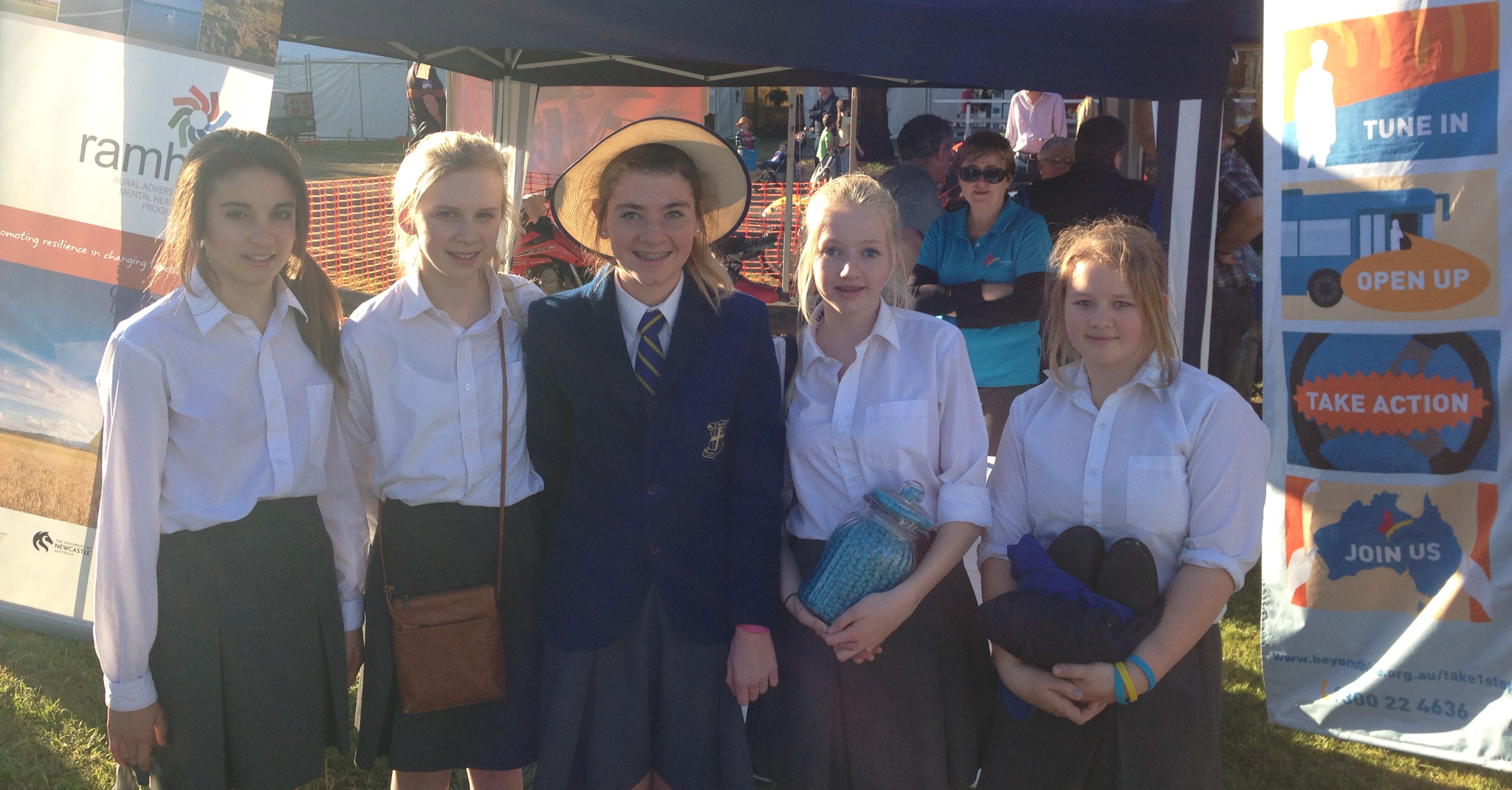 A group of school girls at the Condobolin Show also took out the blue jelly bean guessing competition!
