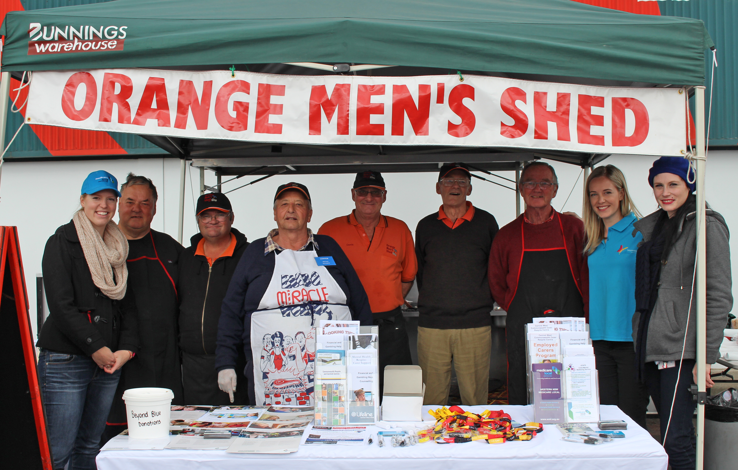 Members of the Orange Men's Shed cooked up a great barbecue.